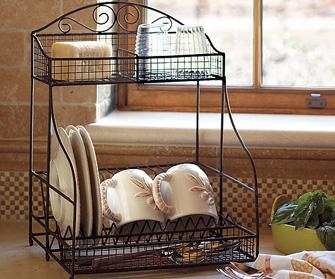 antique dish rack