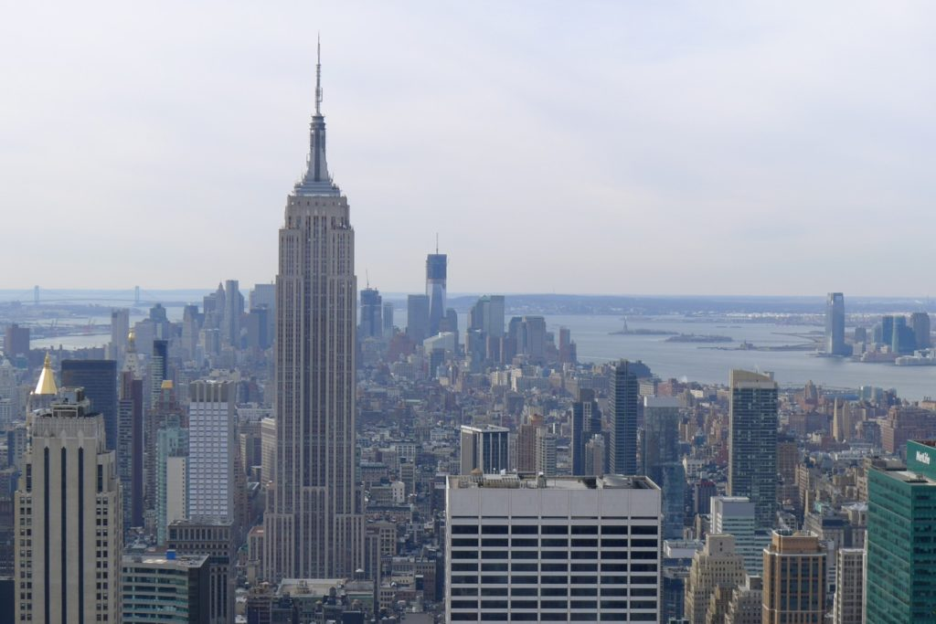 Lower Manhattan from 850 ft