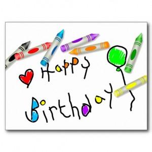 Crayon Happy Birthday