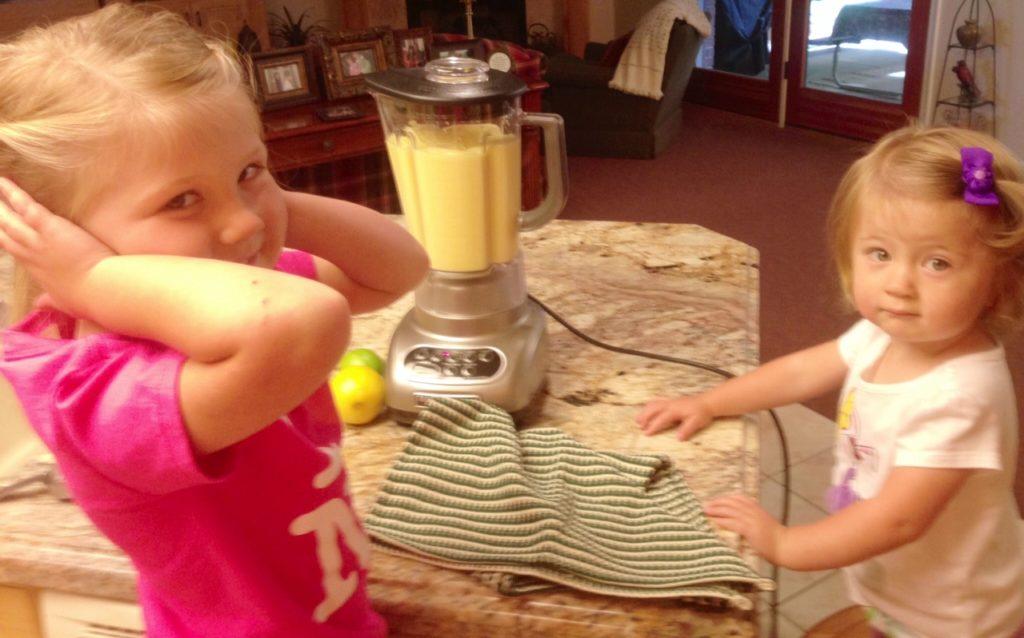 Helping Grandma in the kitchen!