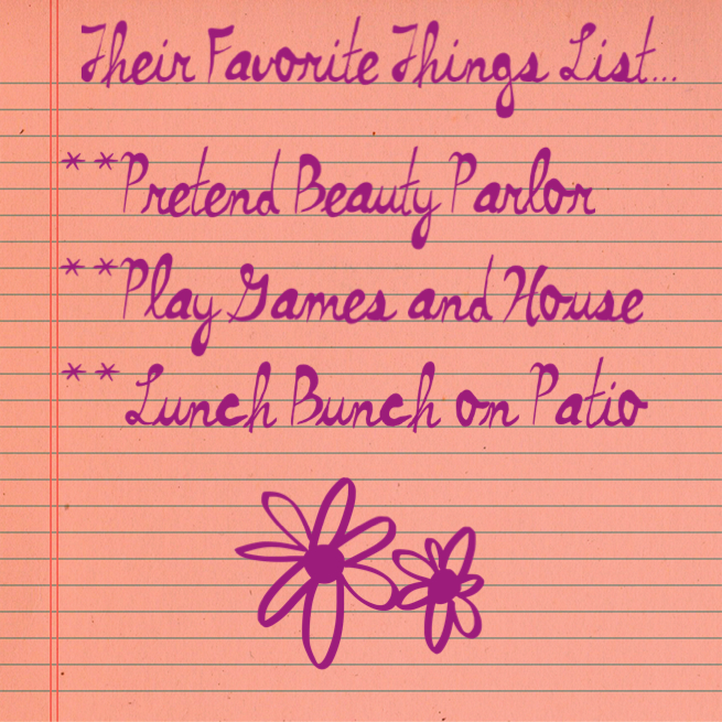 """""""Favorite things"""" List www.mytributejournal.com"""
