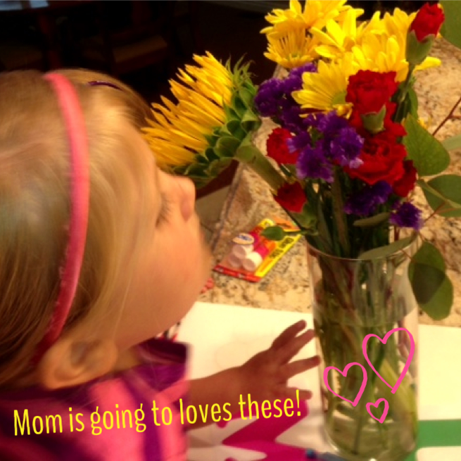 Celebrating mom with flowers! www.mytributejournal.com