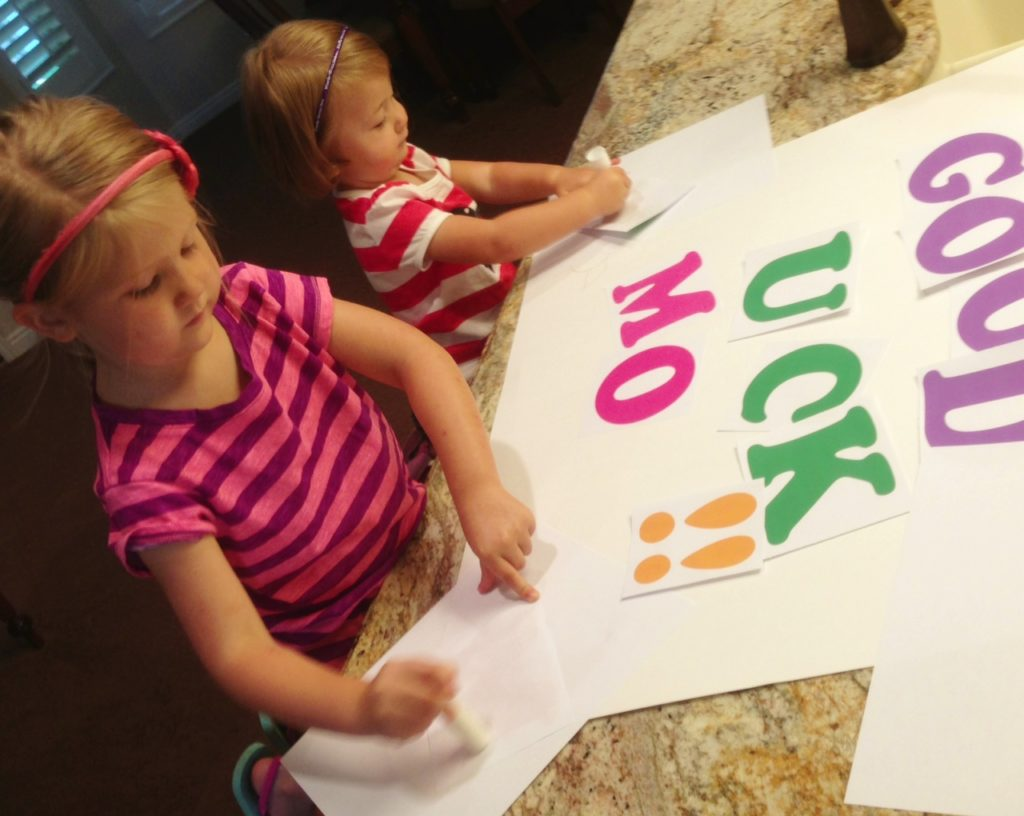 """Making """"Good Luck"""" poster! www.mytributejournal.com"""