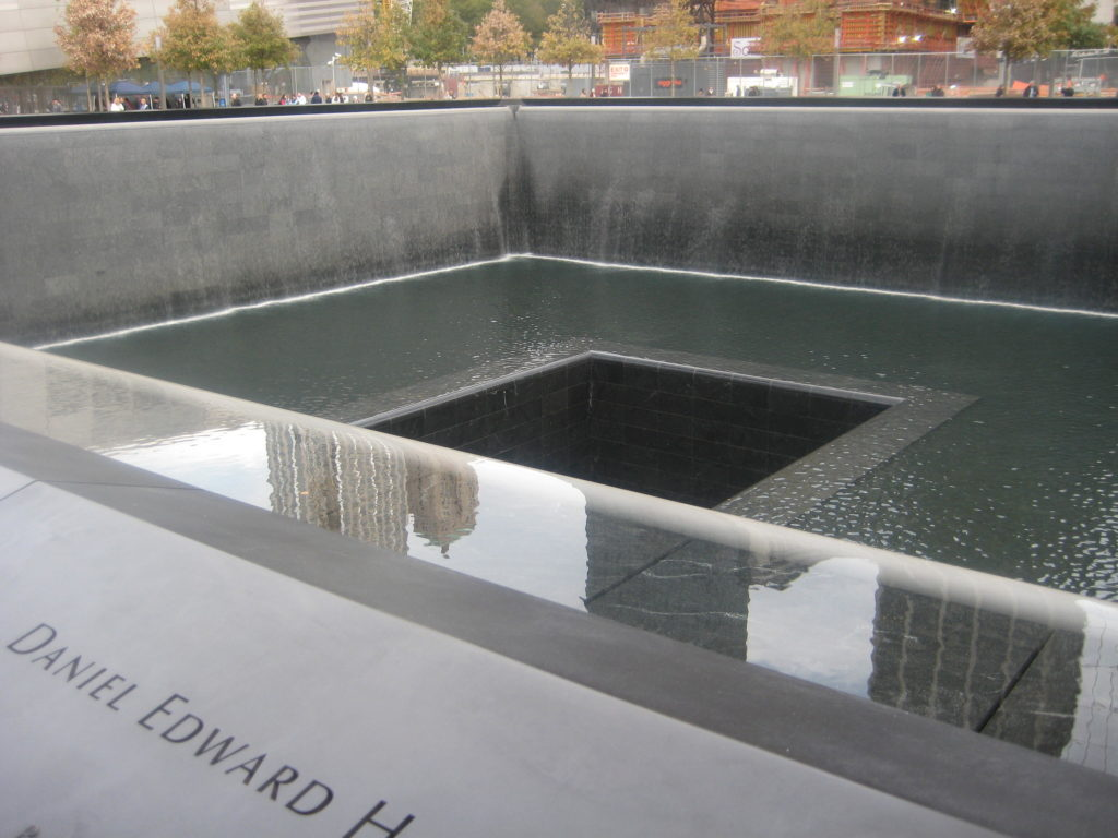 Memorial pools at Ground Zero www.mytributejournal.com