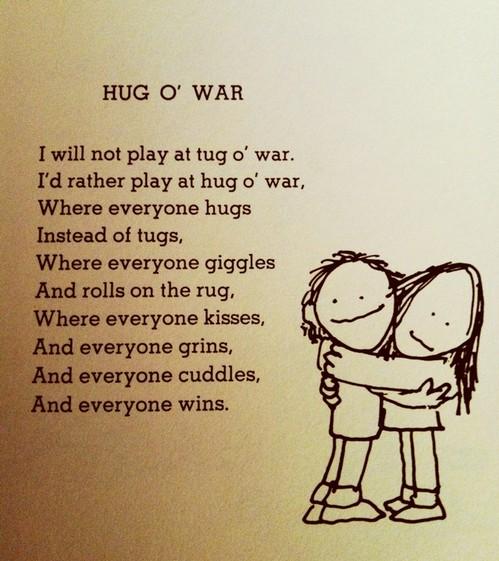 """Hug O' War"" by Shel Silverstein"