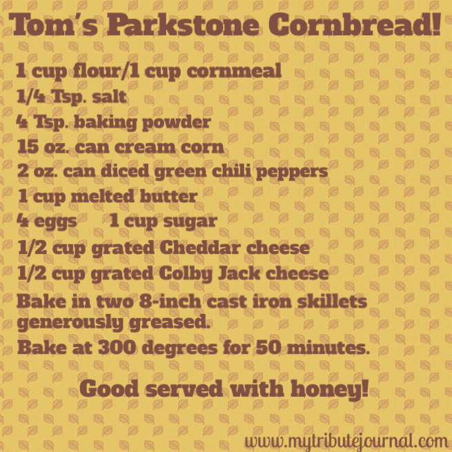 Cornbread recipe! www.mytributejournal.com