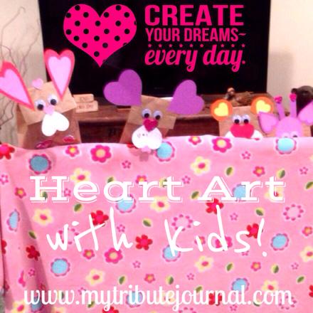Heart Art with Kids! www.mytributejournal.com