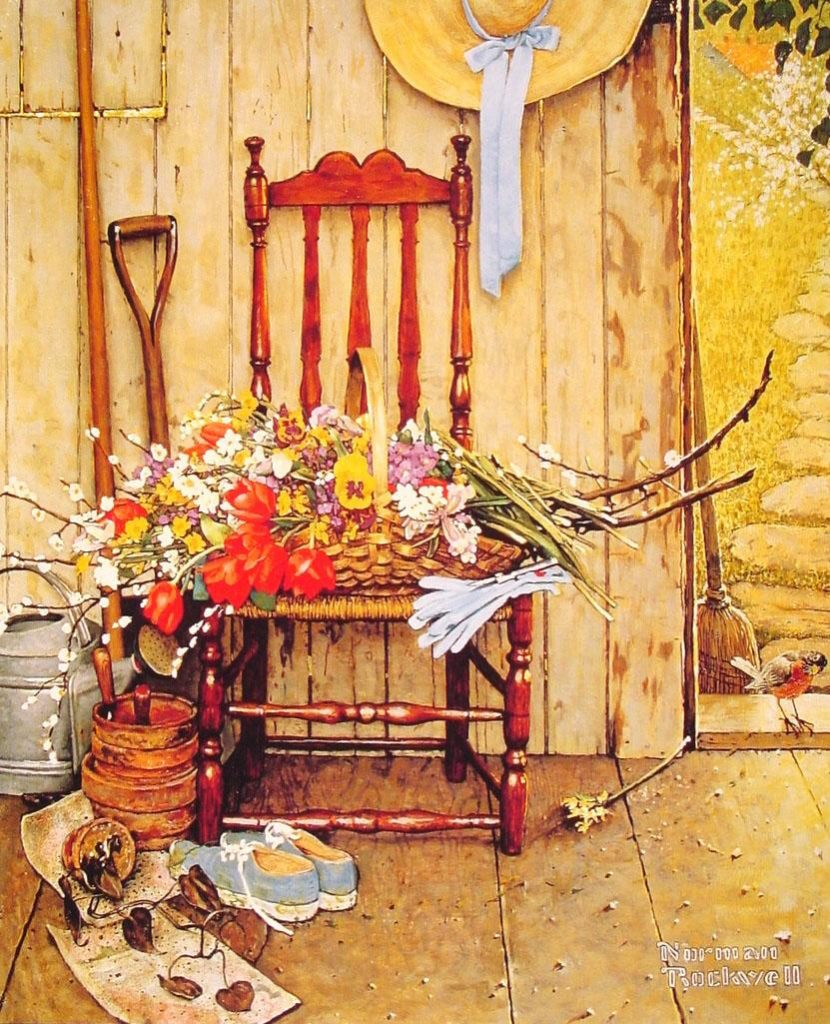 """""""Spring Flowers!"""" by Norman Rockwell www.mytributejournal.com"""