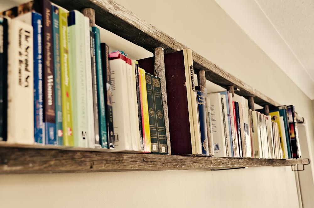 Vintage ladder book shelf www.mytributejournal.com