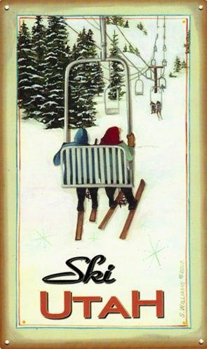 """Vintage """"Ski Utah"""" sign www.mytributejournal.com"""
