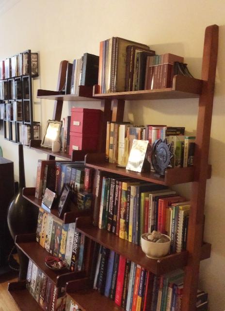 Ladder shelf.