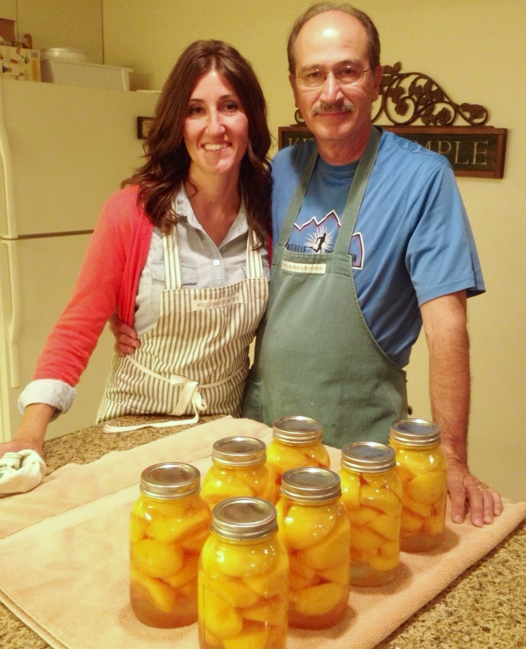 Canning peaches www.mytributejournal.com