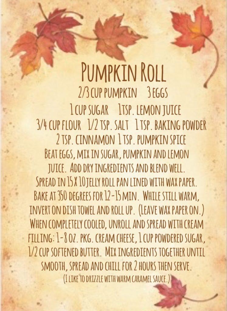Pumpkin Roll recipe.