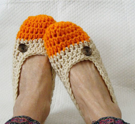 Knitted slippers www.mytributejournal.com