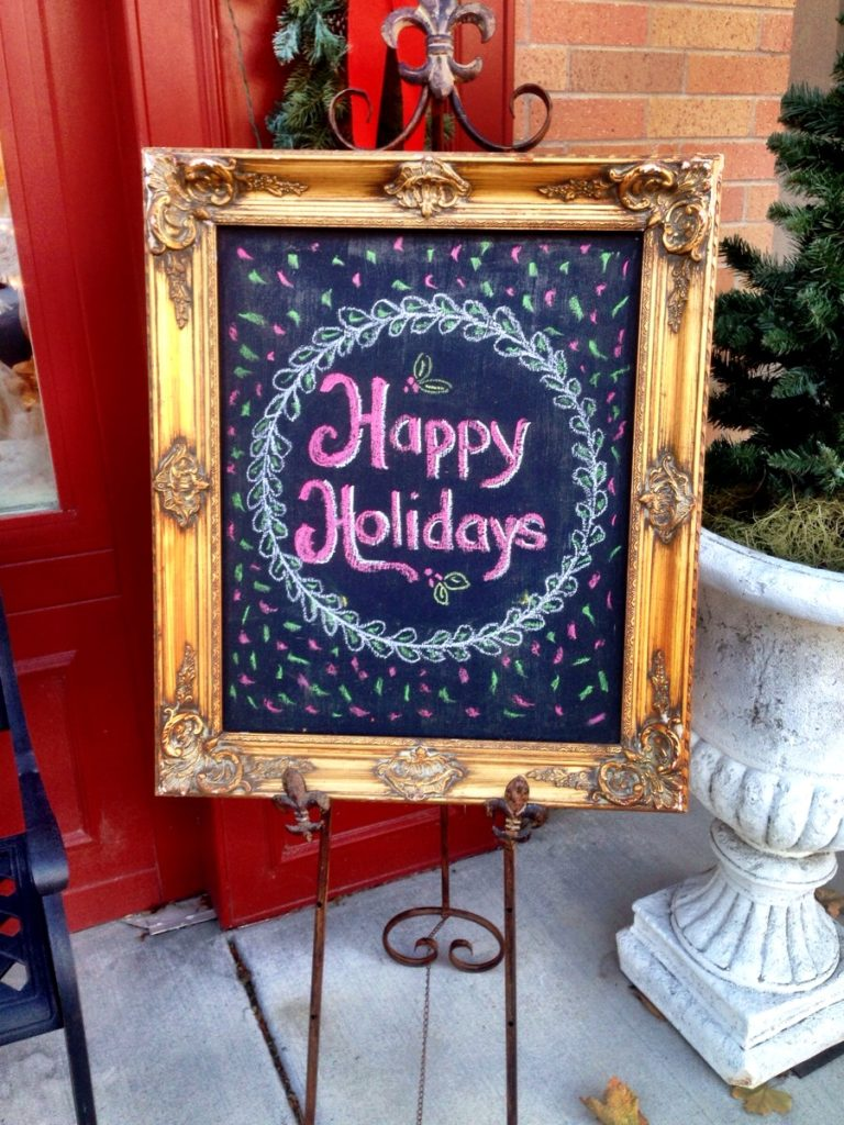 Framed chalk board www.mytributejournal.com