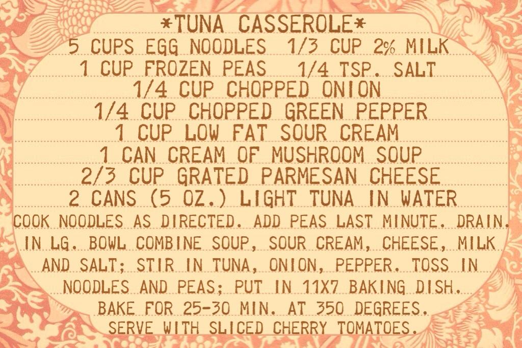 Tuna Casserole Recipe www.mytributejournal.com