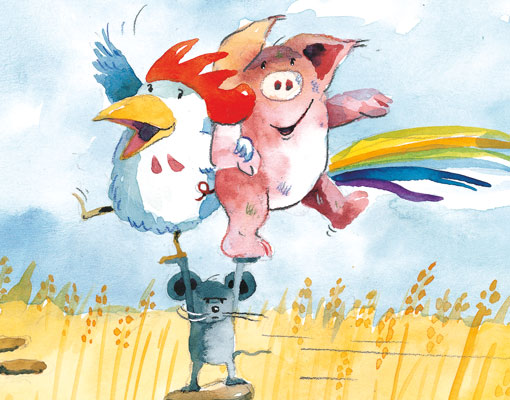 """Illustrations from the children's book """"Friends"""" by Helme Heine. www.mytributejournal.com"""