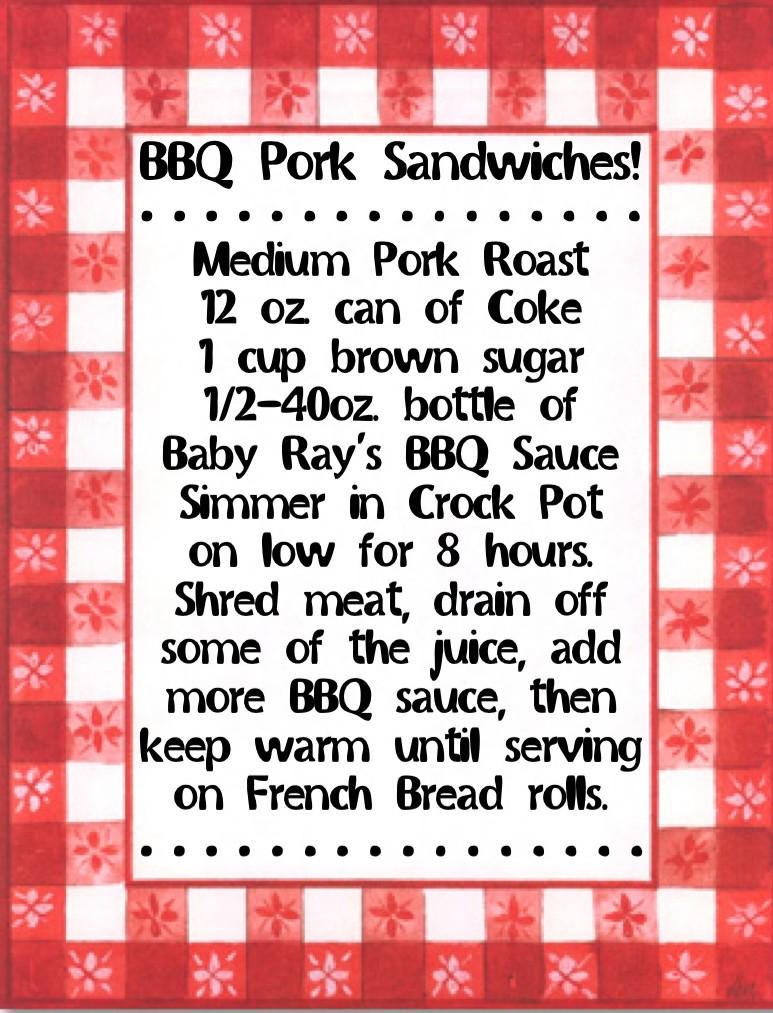 BBQ Pork Sandwich Recipe!  www.mytributejournal.com