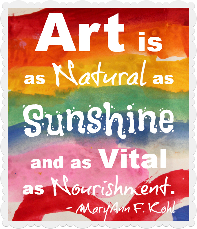 Art is as natural as sunshine quote www.mytributejournal.com