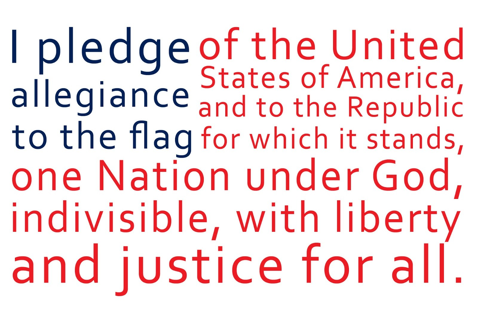 The Pledge of Allegiance! www.mytributejournal.com
