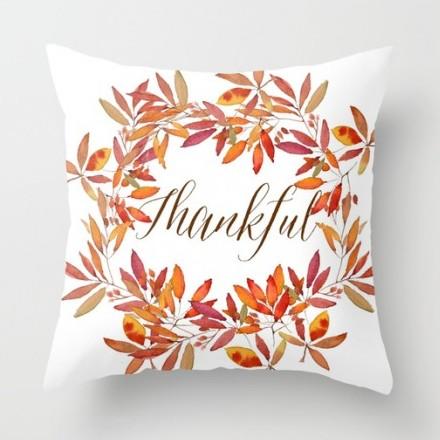 "Craftberrybush ""Thankful"" pillow."