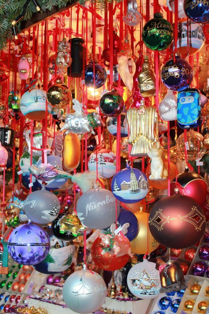German glass ornaments.