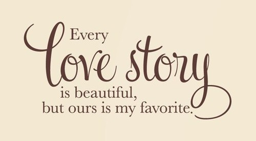 Love story quote.