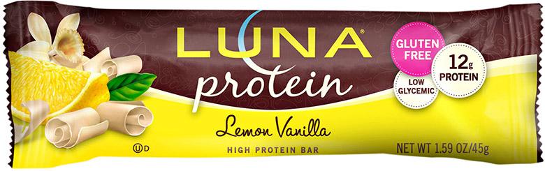 Luna lemon protein bar.