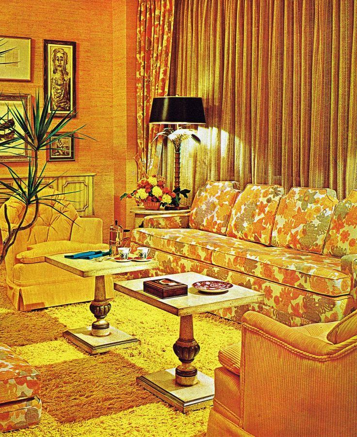 70's style floral decor.