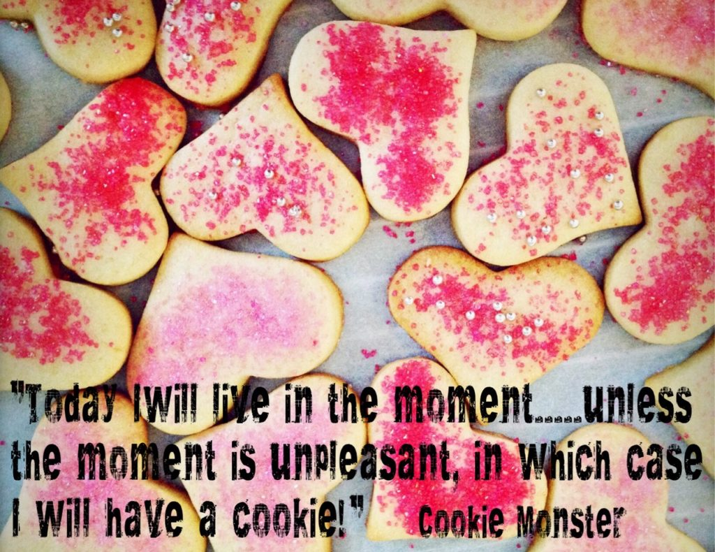 """""""Live in the Moment!"""" quote."""