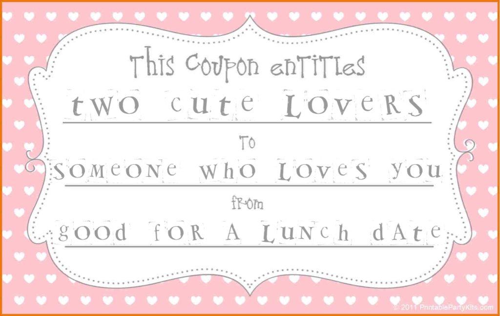 Valentine's Day coupon.