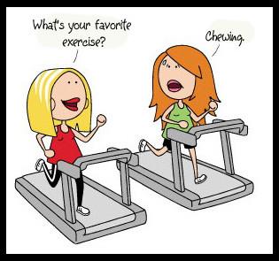 Exercising cartoon.