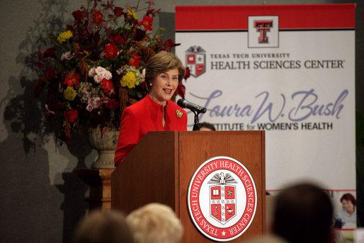 The Laura W. Bush Institute for Women's Health.