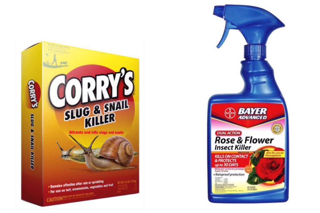 Slug and pest control for flowers.