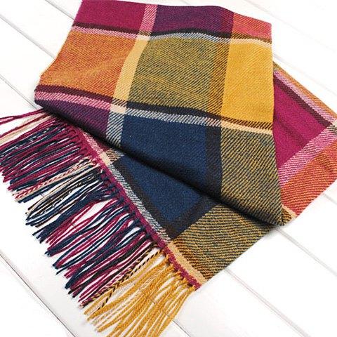 Fall plaid scarf.