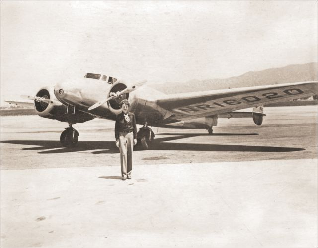 Amelia Earhart final flight.