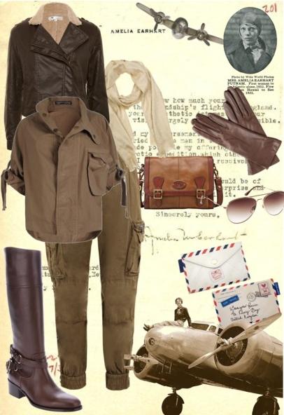 Amelia Earhart's clothing line.