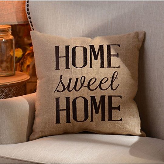 Home sweet home pillow.