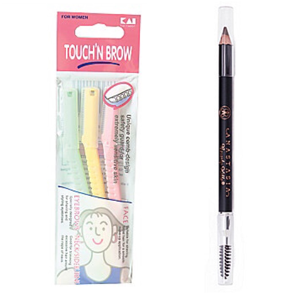 Brow care products.