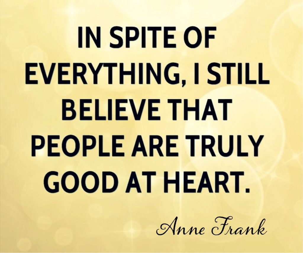 Ann Frank quote.