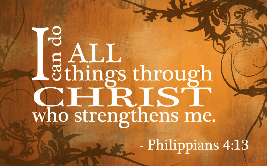 I Believe...I can do all things through Christ!