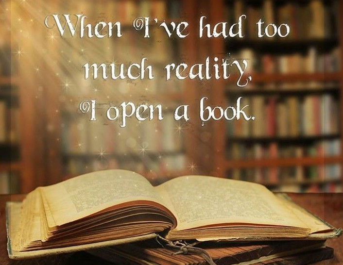 Open a good book quote.