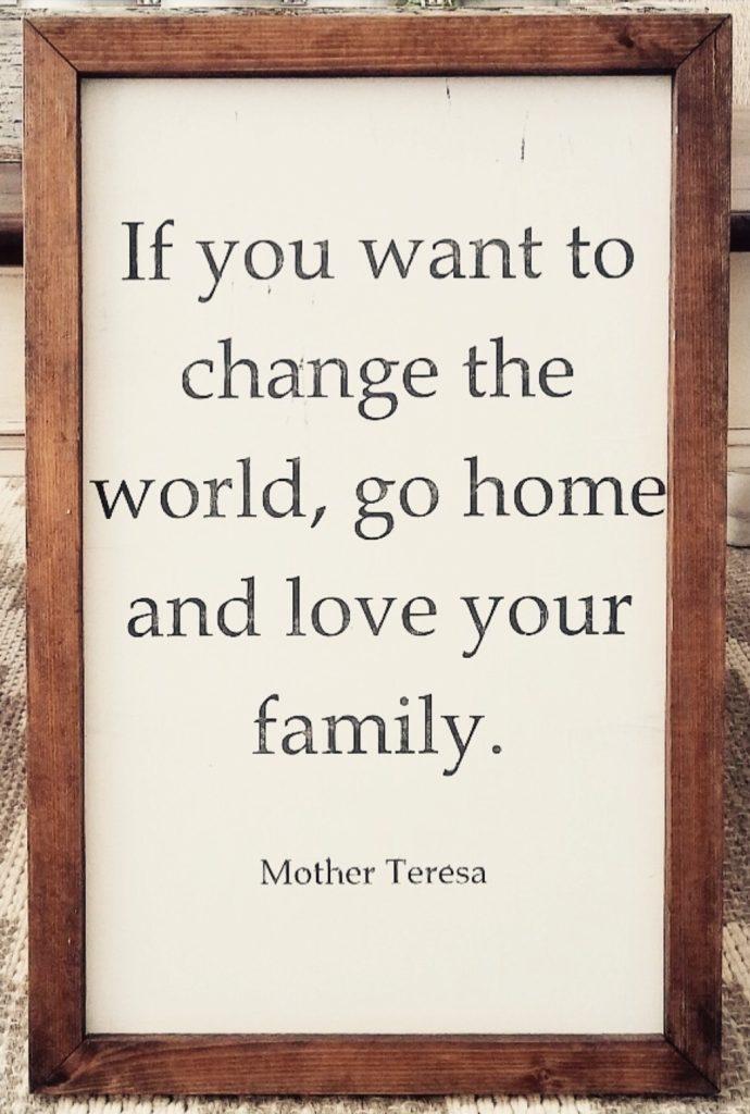Mother Teresa quote.