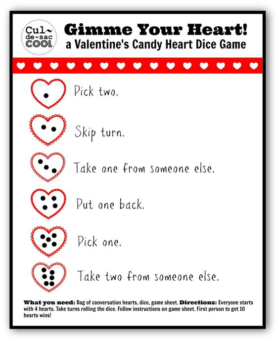 Heart dice game.