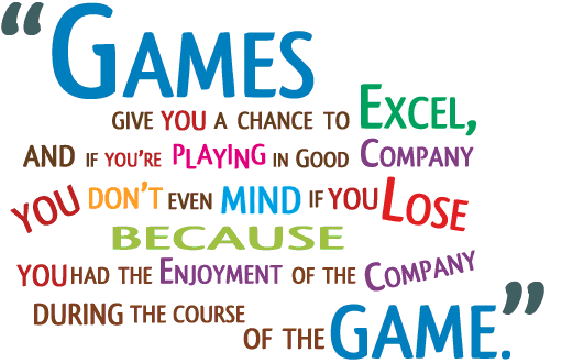 Playing games quote.