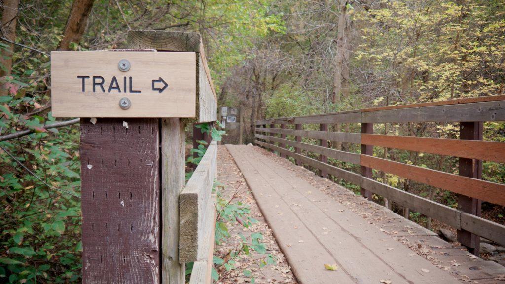 Mueller Park trail sign.