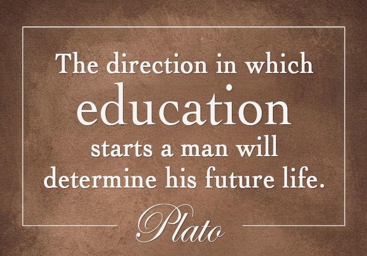Plato quote on education.