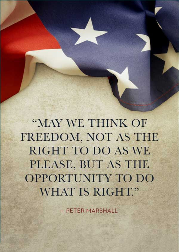 Proud American quote!