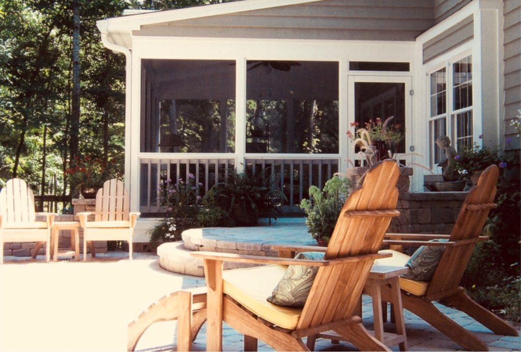 Quaint southern porches.