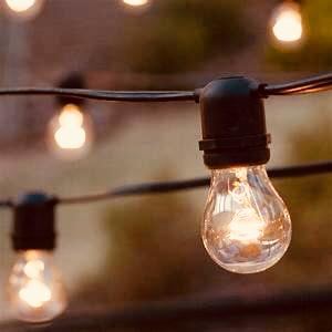 Patio string lights.